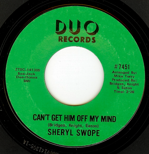 Sheryl Swope can't get him off my mind