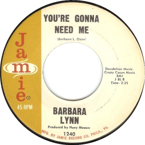 barbara-lynn-youre-gonna-need-me-jamie