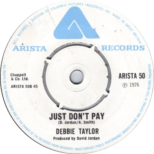 debbie-taylor-just-dont-pay-arista