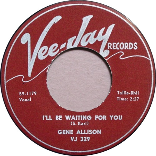 gene-allison-ill-be-waiting-for-you-vee-jay